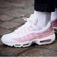 Nike Air Max 95 Stylish Trending Women Men Casual Sport Running Shoe Sneakers Pink I