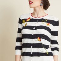 Branch Out and About Embroidered Cardigan