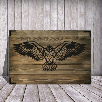 Eagle Wooden Wall Art
