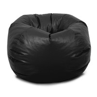Black Vinyl Beanbag Chair