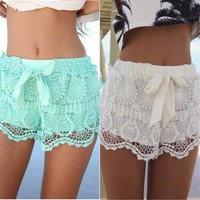 Women's Lace Crochet Shortys