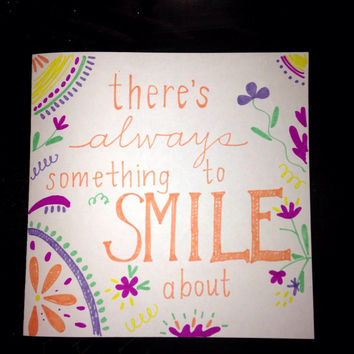 Free Shipping! There's Always Something To Smile About | Motivational Quote on Canvas