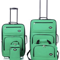 Hercules Jetlite 4-pc. Emerald Upright Luggage Set One Size Emerald