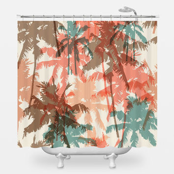 Summer Palm Trees Shower Curtain