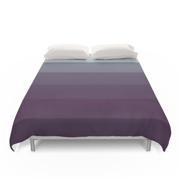 Society6 Blueberry Ice Cream Ombre Duvet Cover
