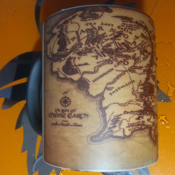 map of middle earth mugs lord of the rings mugs morphing coffee mug disappearing mug transforming heat changing color tea cups