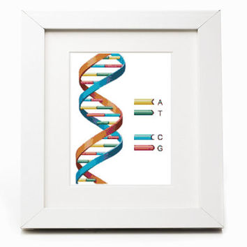 DNA Molecule Cross Stitch Pattern