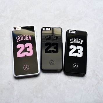 Hot Brand Chrome 23 Jordan Mirror Hard case for iphone 6 6s 7 plus phone cover for iph