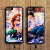 Ariel The Little Mermaid  Couple Case,Custom Case,iPhone 6+/6/5/5S/5C/4S/4