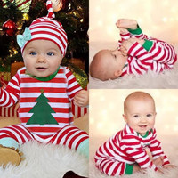 Christmas Kids T-shirt and Pant 2pcs Pajamas Set