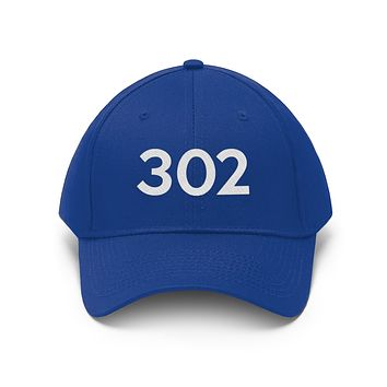 Delaware 302 Area Code Embroidered Twill Hat