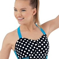 Back Detail Print Bra Top