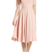 Gal Meets Glam Collection City Crepe Fit & Flare Dress (Nordstrom Exclusive) | Nordstrom