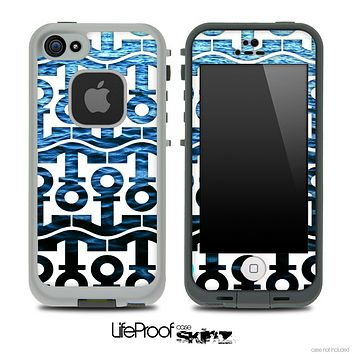 White and Rough Deep Blue Sea Anchor Collage Skin for the iPhone 5 or 4/4s LifeProof Case