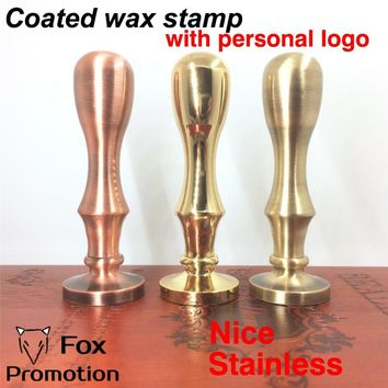 Customize Wax Stamp with Your Logo,Coated Brass Handle Stamp DIY Ancient Seal Retro Stamp,Personalized Wax Seal custom design