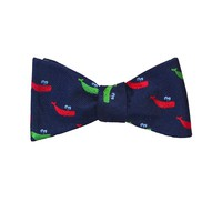 Sperm Whale Bow Tie - Port & Starboard, Woven Silk