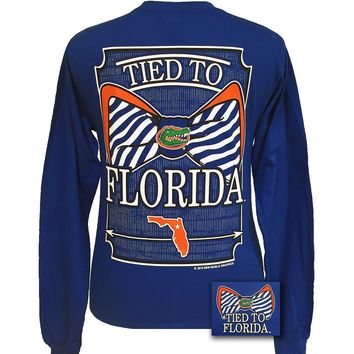 Tied To Florida Gators Big Prep Bow Girlie Long Sleeve T Shirt