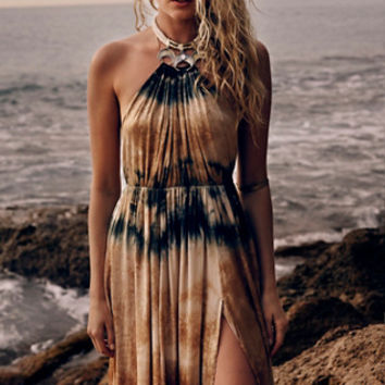 Free People Love Me In Silk Tie Dye Maxi