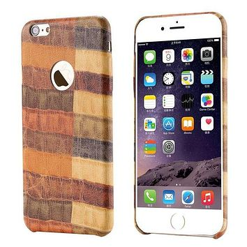 Brown Croc Leather Fashion iPhone Case iPhone 7+,7,6s,6