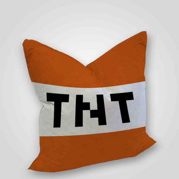 Tnt minecraft art, pillow case, pillow cover, cute and awesome pillow covers