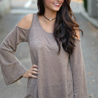 Distant Dreams Cold Shoulder Top