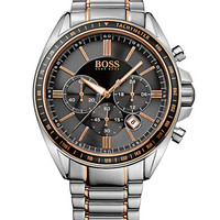 Hugo Boss Mens Driver Sport Two Tone Chronograph Watch