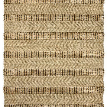 Nativa Jute Area Rug in Natural design by Classic Home