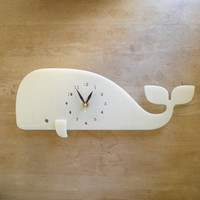 Modern Whale Ivory Wall Clock - Limited Edition