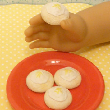 Miniature Lemon Tea Cake Cookies for American Girls 1:3