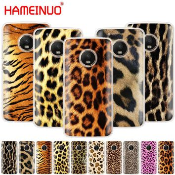 HAMEINUO Fashion Tiger Leopard Print Panther Photo case phone cover For Motorola Moto X4 E4 C G6 G5 G5S G4 Z2 Z3 PLAY PLUS