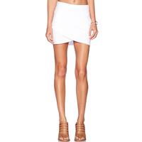 2015 Slim Skirt Women's Mini Skirts Fitted Wiggle Asymmetrical White Solid Color Skirt PE3485*50