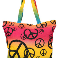 Girl Junk Peace Sign Tote Bag | Mod Angel