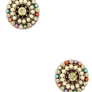 Nature Walk Studs in Ivory