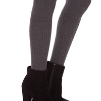 Charlize Over the Knee Socks - Charcoal