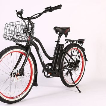 X-Treme Malibu Elite Max 36 Volt Electric Beach Cruiser Bicycle Bike Black