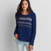 AEO TEXTURED PULLOVER SWEATER