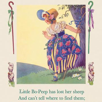 Little Bo-Peep 12x18 Giclee on canvas