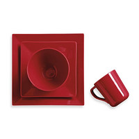Real Simple Square 4-Piece Place Setting in Red