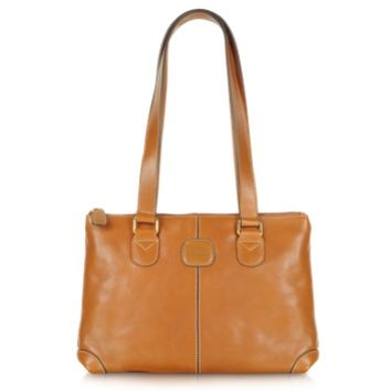 Bric's Designer Handbags Life Leather - Zippered Tote Bag