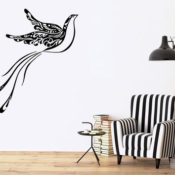 Tribal Bird Peacock Animal DECOR Wall MURAL Vinyl Art Sticker Unique Gift M335