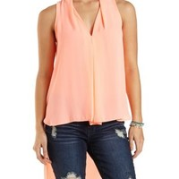 Extreme High-Low Sleeveless Top by Charlotte Russe