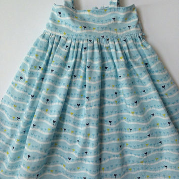 Toddler Dress, Blue Dress for Girls, Knot Dress, Sister Dresses, Twirl Dress for Toddler, Sundress, Girls Jumper