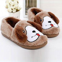 Dog Fuzzy Indoor Slip-On Slippers