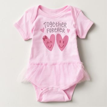 Claire Blossom Together forever Baby Bodysuit