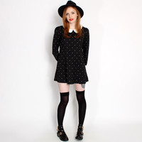 Hearts & Bows Black & White Izzi Peter Pan Collar Dress