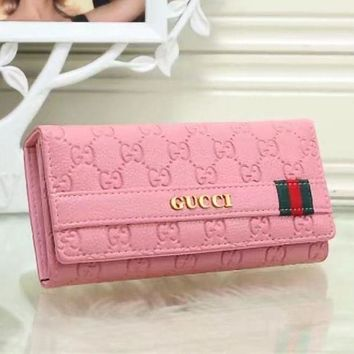DCCK GUCCI Women Fashion Leather Purse Wallet-1