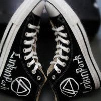 Linkin Park Converse High Top Sneakers