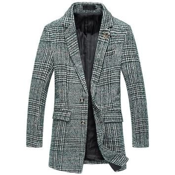 New Winter Wool Cashmere Blend Trench Coat