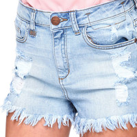 HIGH WAISTED FRINGE SHORTS