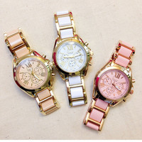 Beautiful 2-Tone Color Band Watches #W55